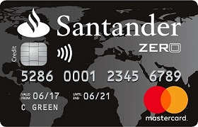 Santander Zero travel credit card